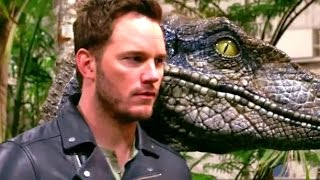 Jurassic World Behind-The-Scenes Photoshoot with Steven Spielberg (2015) Chris Pratt Movie HD