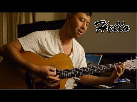 Lionel Richie Hello Cover Guitar With Lyrics And Chords Youtube