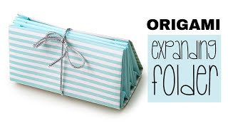 Learn how to make a useful origami expanding folder! You can make o...