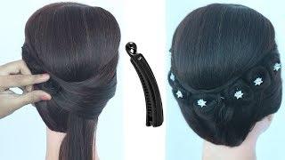 trendy juda hairstyle using banana clutcher || ladies hair style || hair style girl || hairstyle