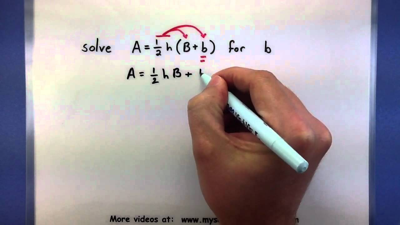 Pre-Calculus - How to solve a formula