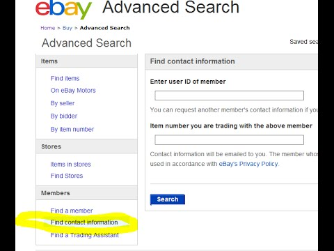 How to Get Ebay Contact Information (Phone Number Name Address - address to phone