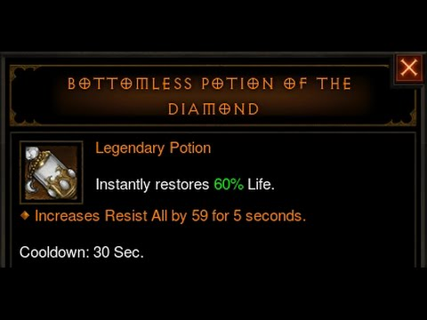 Diablo 3 Reaper Of Souls Legendary Bottomless Potion Of The Diamond