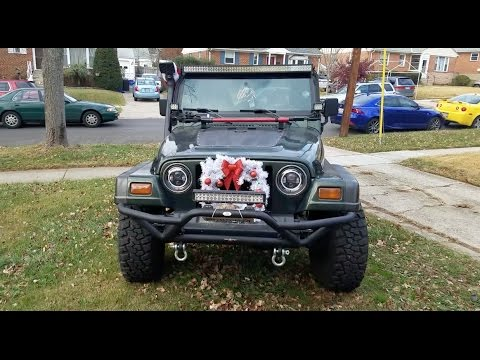 how to decorate your car for christmas jeep tj - Christmas Decorations For Your Car