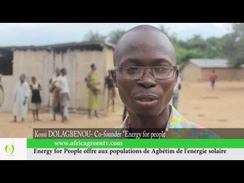 Energy for people offre aux populations d'Agbetim de l'energie solaire