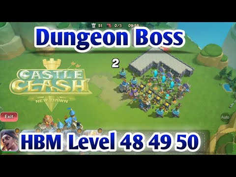 Castle Clash New Dawn | Dungeon Boss(Hard Level) | HBM Level 58-49-50 | Thunder God In Action