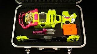 仮面ライダーエグゼイド 自作ドライバーケース DXゲーマドライバー&キメワザスロットホルダーセット&マイティアクションXガシャット Kamen Rider Ex-Aid Driver case thumbnail