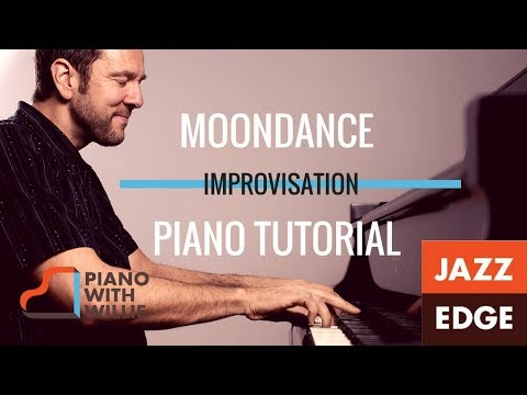 Moondance Featuring Improvisation - Piano Tutorial by JAZZEDGE