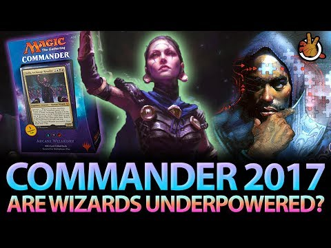 Are Wizards Underpowered? CMDR2017 Wizard Deck Review | #172 Commander Magic Podcast