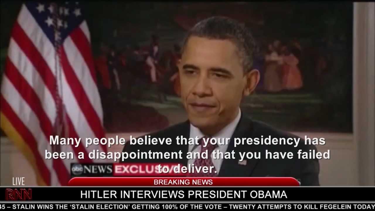 Hitler interviews President Obama