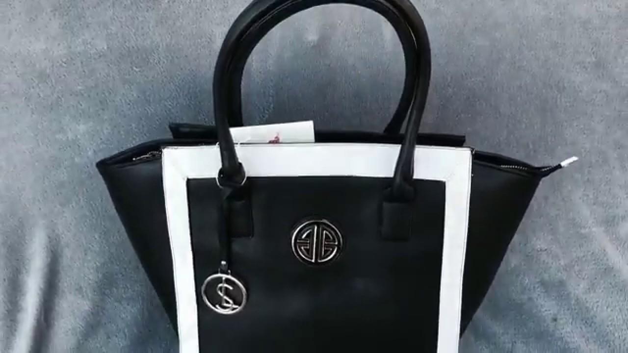 Fekete-fehér női táska - YouTube 7e9158e61b