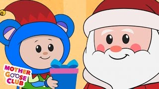 Christmas Song | Up on the Housetop | Mother Goose Club Kid Songs and Nursery Rhymes thumbnail