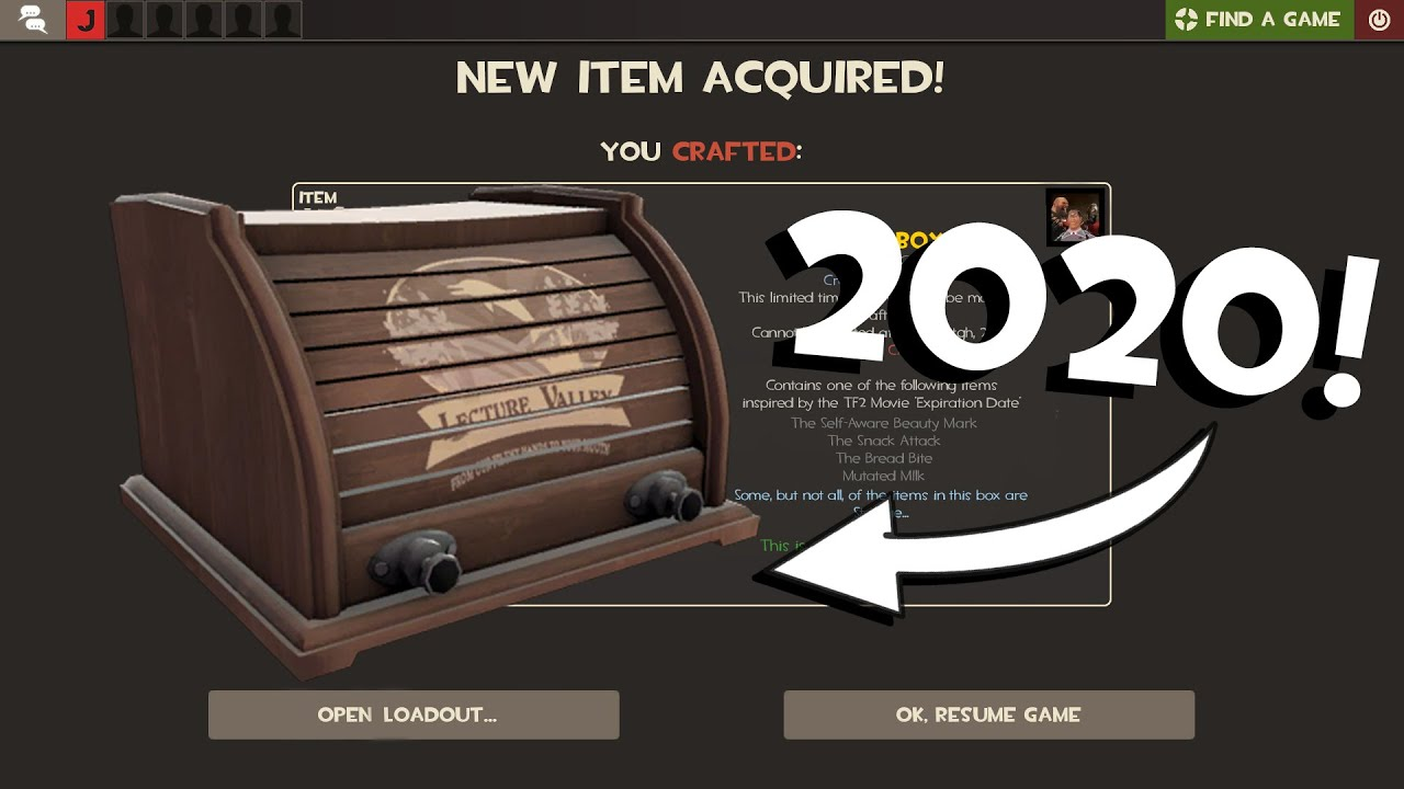 How To Craft a Bread Box in TF2 in 2020!