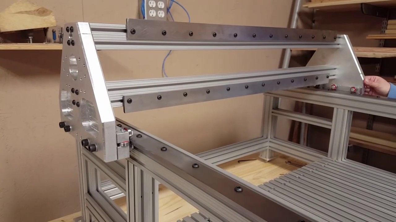 Diy cnc router gantry assembly youtube for Diy router