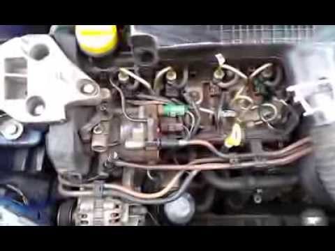 Renault Clio II 15 dci alternator belt noise  YouTube