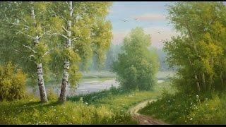 Мастер класс Рисуем Летний пейзаж (полная версия)