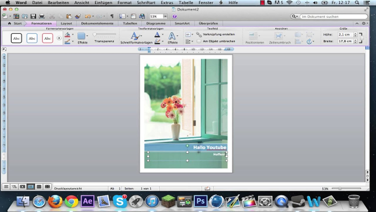 Deckblatt Erstellen Word Mac Tutorial Mac Youtube