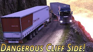 DANGEROUS TRUCKING! - Scania Truck Driving Simulator - 'Wing it Wednesday' (with Wheel Cam)
