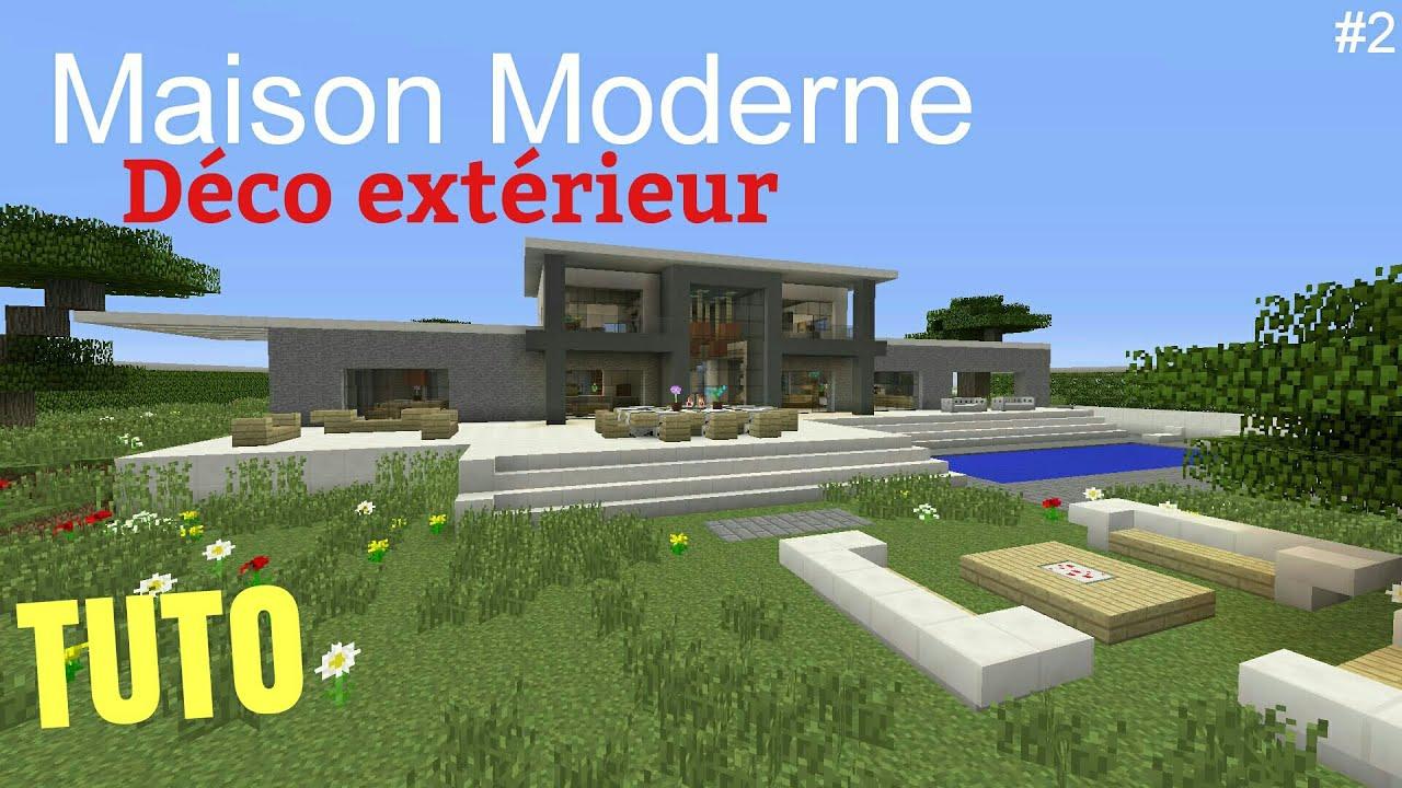 TUTO Minecraft Maison Moderne #2 Déco extérieur PS4 (PS3 ...