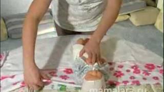 видео как пеленать ребенка