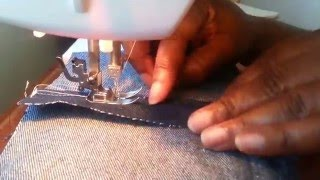 Professional seams without a serge machine
