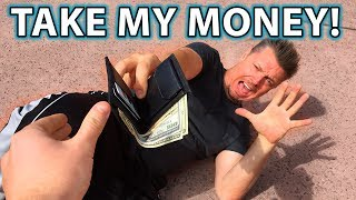REVERSE MUGGING Prank!! (Getting ROBBED in Public!)