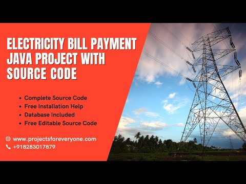 Electricity Bill Payment Project in  Java Swing with Mysql JDBC