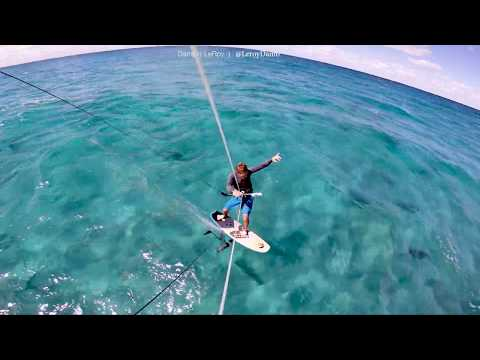 Kitesurfing With Hundreds Of Sharks