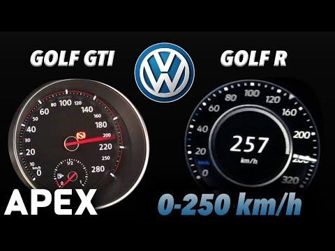 2018 VW Golf GTI Vs. VW Golf R - Acceleration Sound 0-100, 0-250 Km/h | APEX