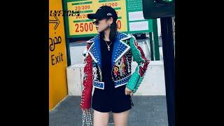 Женская короткая куртка из искусственной кожи с заклепками в стиле панк рок купить с Aliexpress