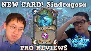 [Hearthstone] Streamers react to Sindragosa - Knights of the frozen throne Pro Reviews #2