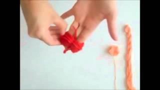 كيفية صنع كرات الصوف