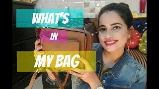 WHAT'S IN MY BAG ???|TheLifeSheLoved| Sana K