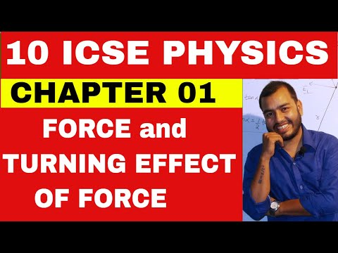 Class 10 ICSE Physics Chapter 1 : Force and Moment Of Force || Centre of Gravity || Circular motion