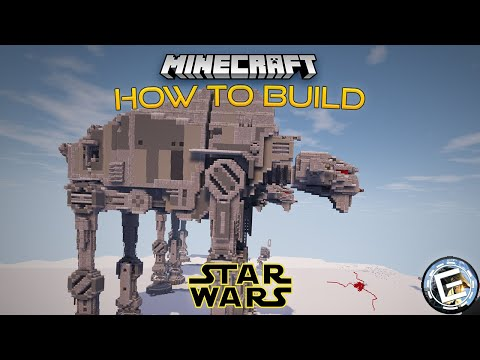 How to Build a Star Wars First Order AT-M6 in Minecraft (2:1 Scale)