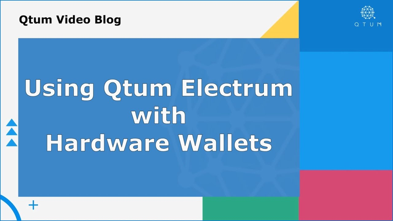 Using Qtum Electrum with Hardware Wallets