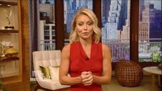 Kelly Ripa Returns to 'Live', Congratulates Michael Strahan on 'GMA'