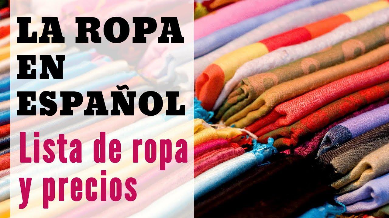 La Ropa en Español: Vocabulario, Adjetivos y Cómo Hablar ...