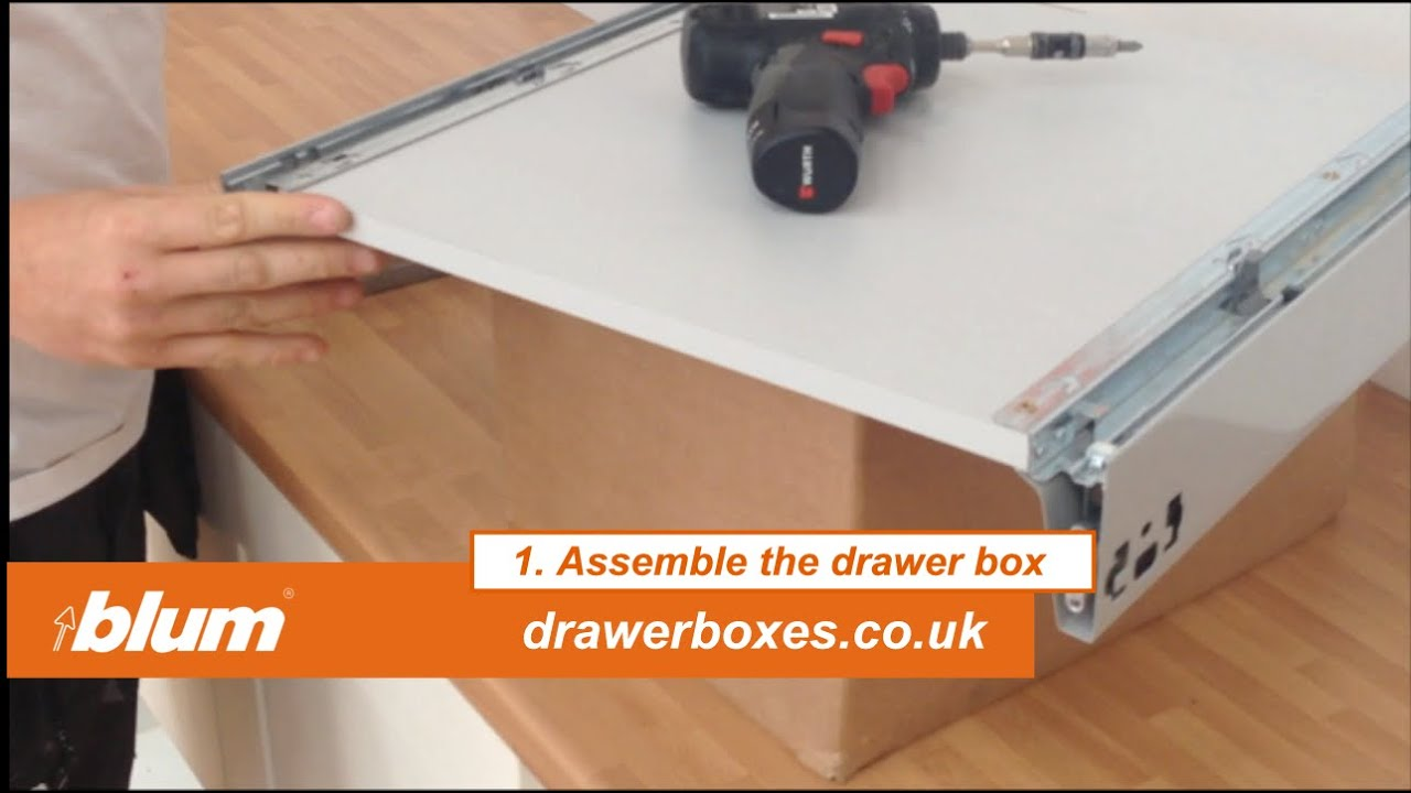 Great Blum Tandembox Antaro   Shallow Replacement Kitchen Drawer Box   1 Of 3  Assemble The Drawer Box   YouTube