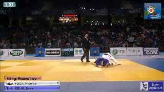 Judo 2013 European Championships U18 Tallinn: Foca (MDA) - Celik (TUR) [-50kg]