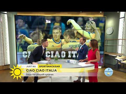 Så är svenska landslagsformen inför play-off mot Italien - Nyhetsmorgon (TV4)