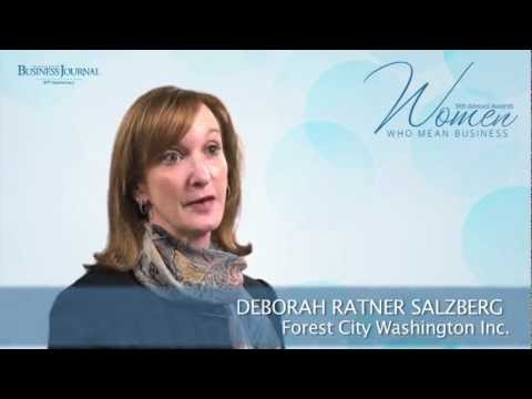 Women Who Mean Business - Deborah Ratner Salzberg, Forest City Washington Inc.
