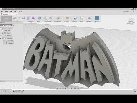 Fusion 360: Batman Wall Plaque!