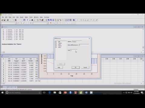 Model ARIMA dengan Menggunakan Software MINITAB