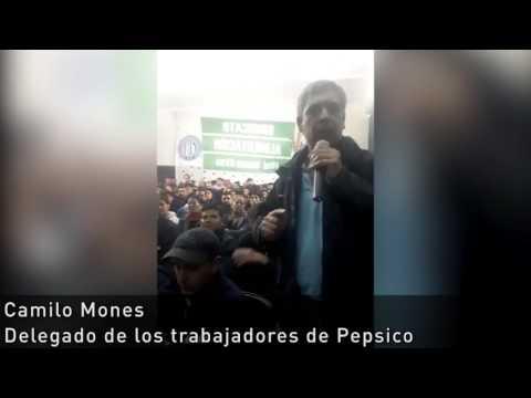 Plenario del STIA, intervención de Camilo Mones, delegado de Pepsico