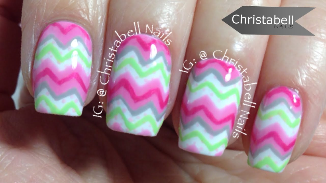 christabellnails chevron nail art