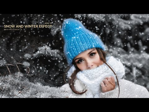 Summer to Winter Snow Effects Transformation in Photoshop Tutorial By Massive Editz thumbnail