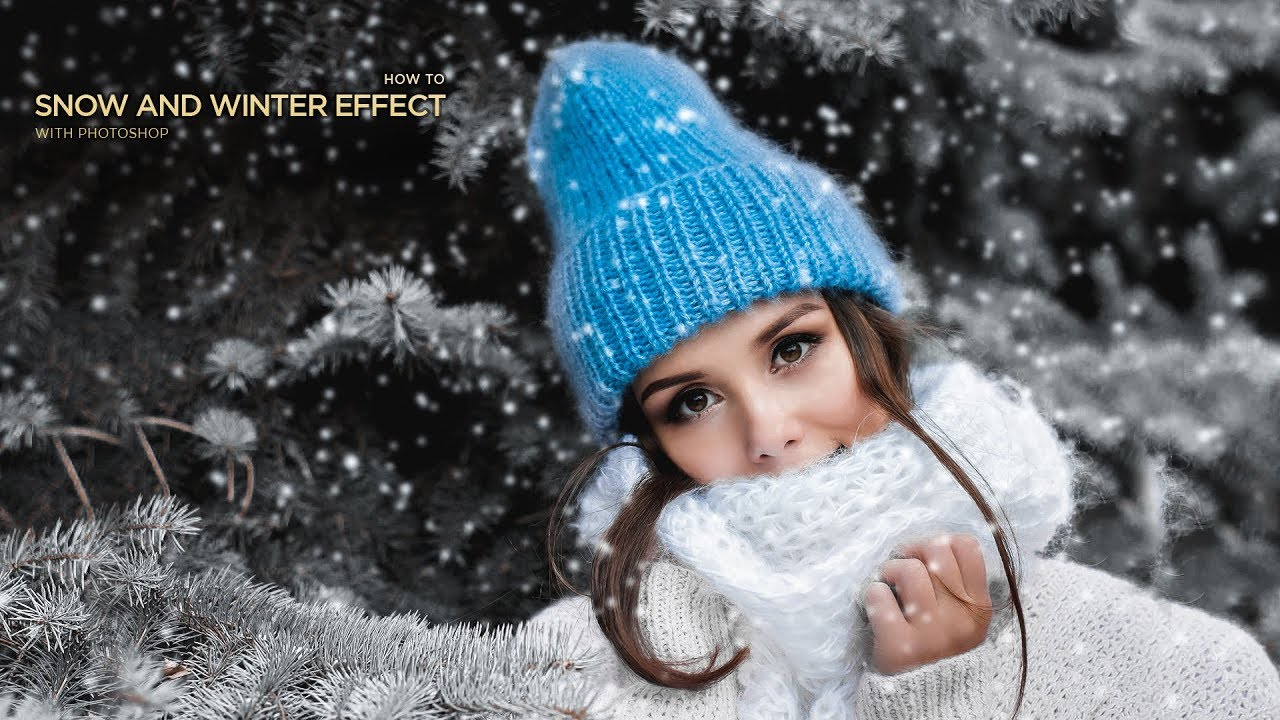 Summer to Winter Snow Effects Transformation in Photoshop Tutorial By Massive Editz