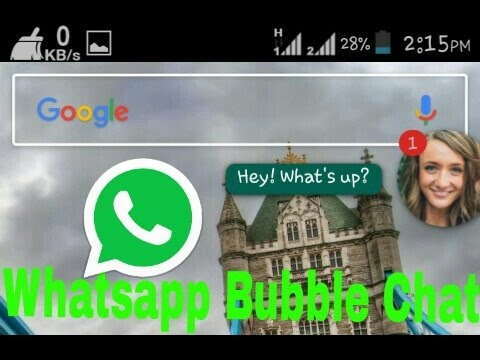 New Trick Whatsapp Chat Bubble Easy Reply...