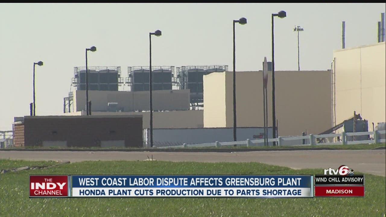 Honda Greensburg Indiana >> Dockworkers Dispute Cuts Production At Honda Indiana Plant Youtube